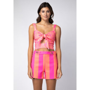 Top Cropped Neoprane Neon