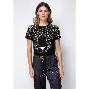 T Shirt Cropped Animal Face