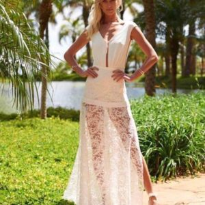 Conjunto Pantacourt Com Saia em Renda All White